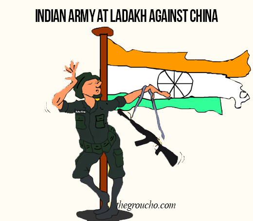 Cartoon: Indian Army At Ladakh