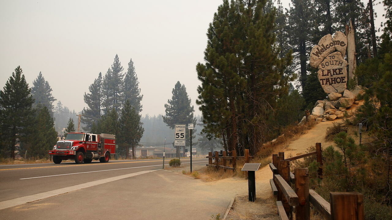 Resorts become ghost towns as wildfire edges closer to California's Lake Tahoe