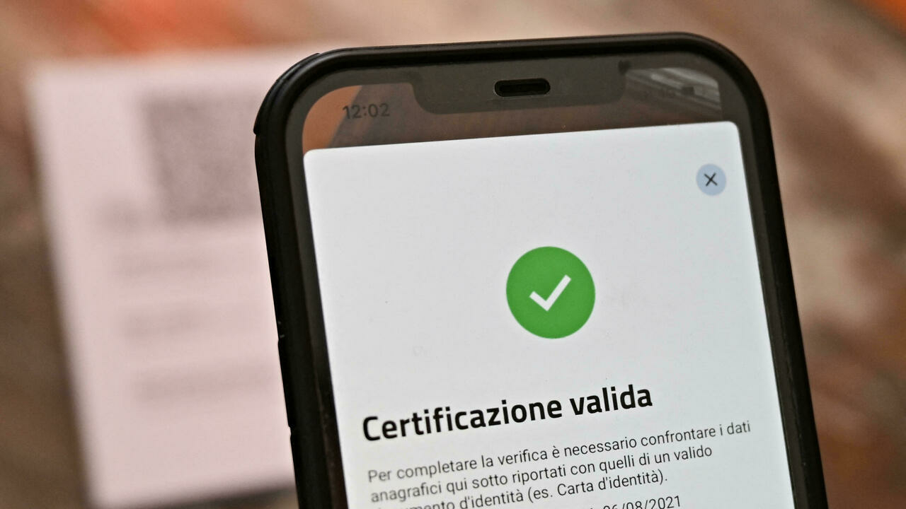 Italian government makes Covid-19 health pass mandatory for all workers
